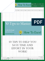 0HowToExcel eBook - 50 Tips to Master Excel 2017-04-23