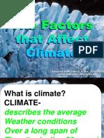 Factors That Affect Climate Ppt