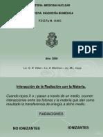 Interacción de La Radiación Con La Materia.