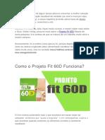 Projeto Fit 60D Funciona ? [ Veja Aqui ]