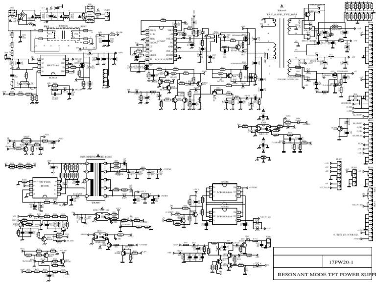 Vestel 17pw20-1 Resonant Mode Power Supply Sch