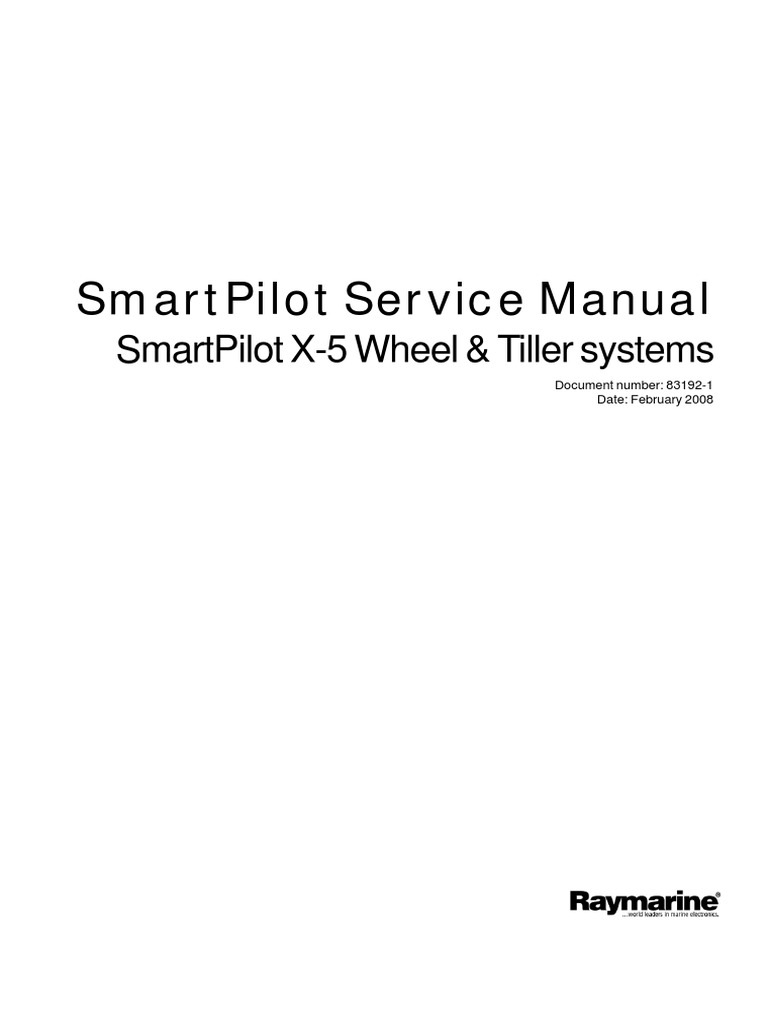 RayMarine Smart Pilot Service Manual (1) | Clutch | Switch