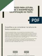 Diretrizes Para Leitura, Análise e Interpretação