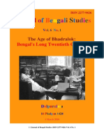 Journal of Bengali Studies Vol.6 No.1