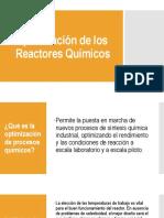 Optimizacion de Reactores