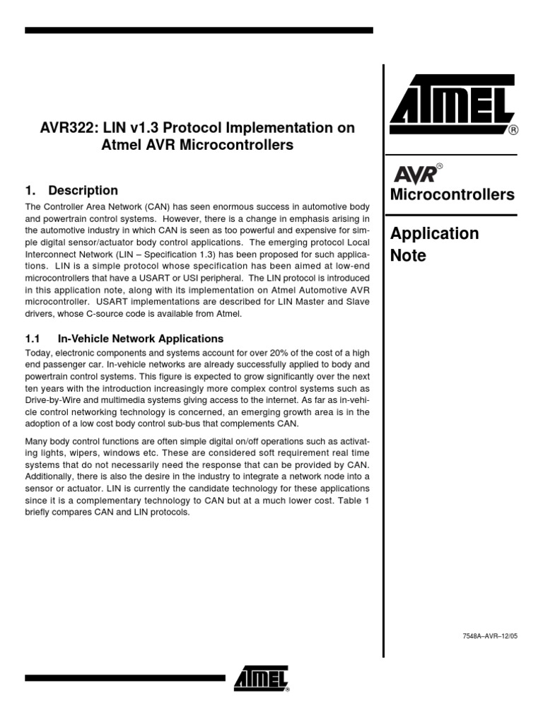 Atmel An Computer Data Areas Of Science Avr Mcu Family Expanded