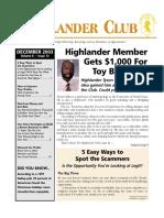 Highlander Club Dec2003