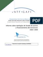 Tipologias GAFI 2004-2005