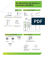 Montagem de Divisorias de Placas e Gesso Com Estrutura Metalica