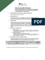 Especificaciones Tecnica - MESITAS