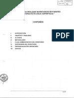 Inventario de Fuentes de Agua