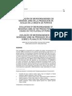 Evaluacion de Microrganismo de Montaña en La Produccion de Acelga en La Meseta de Popayan
