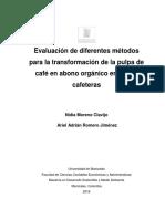 Evaluacion de Diferentes Metodos Para La Transformacion de La Pulpa de Cafe en Abono Organico by Moreno_Nidia_2016