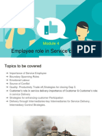 Module 4 -Employee Role in Service Designing