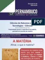 Propriedades Gerais e Específicas Da Matéria, Partindo Do Conceito de Matéria (1)