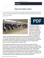 Total Mixed Rations for Dairy Cows