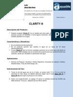 3. Especificaciones Clarity®