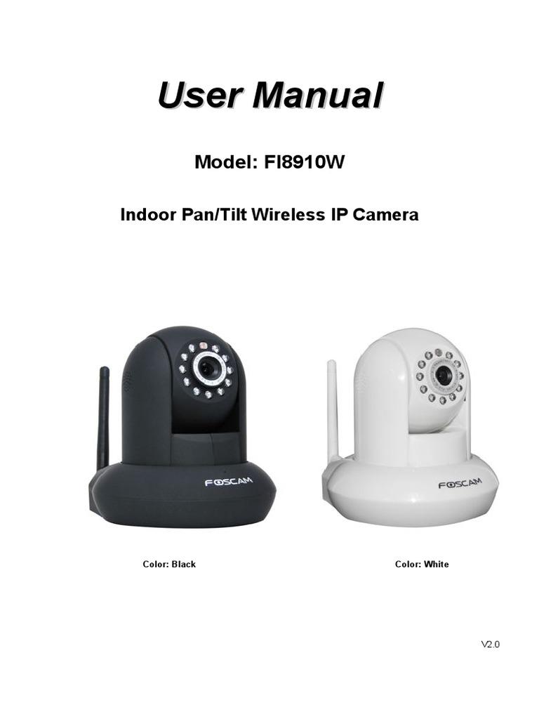 FI8910W User Manual-V2 0   Wi Fi   Computer Network