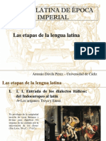 Etapas de La Lengua Latina