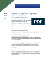 Indian Pharma News Update Nov 1 - 15 2009