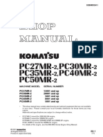 Komatsu Pcmr 2,Pc30mr 2,Pc35mr 2,Pc40mr 2,Pc50mr 2 Shop Manual