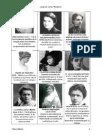 Juego de Cartas Mujeres