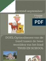 Informatieavond SeptemberLeendert Jan Vis