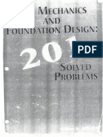 201 Solved Problems - Soil Mechanics & Foundation