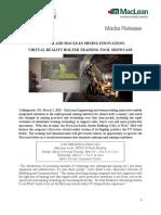 MacLean Engineering_PDAC 2018-_Media Release