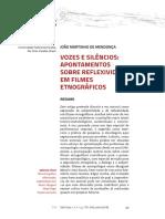 Vozes e Silêncios_ Apontamentos Sobre Reflexividade Em Filmes Etnográficos