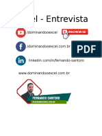 Excel - Entrevista de Emprego