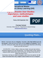 Feliciati User Studies Dill 2010