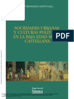 Sociedades Urbanas y Culturas Políticas en La Baja Edad Media Castellana