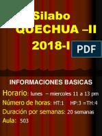 (0) Presentacion Del Silabo Q-II