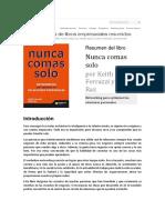 LEADER SUMMARIES - Resumen Del Libro - Nunca Comas Solo - Networking Para Optimizar Tus Relaciones Personales - Por Keith Ferrazzi y Tahl Raz