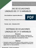 Soluciones de Sistemas de Ecuaciones Lineales