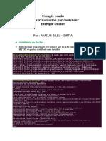 Compte Rendu Tp 2 Docker - Ameur Bilel --- Sirt A