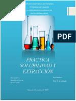 Práctica Solubilidad y Extracción
