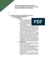 Mejoramiento y Ampliación Del Servicio de Agua Para El Sistema de Riego de Las Localidades de Puras,Rupac y Chuchin