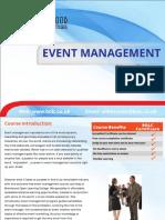 544event Management Short Coruse Brochure
