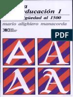 Manacorda MA Historia de La Educacion de La Antiguedad Al 1500