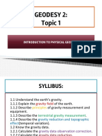 Topic 1- Introduction to Physical Geodesy