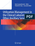 Utilization Management in the Clinical Laboratory and Other Ancillary Services