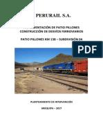 Especificaciones Técnicas Desvios Ferroviarios Pillones 2