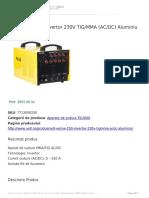 Velt Wsme 250 Invertor 230v Tig Mma (Ac Dc) Aluminiu