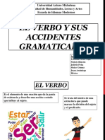 El Verbo y sus Accidentes Gramaticales