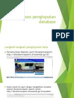 Modul Proses Penginputan Database