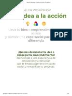 Talleres _ Workshops de La Idea a La Acción _ Road4world