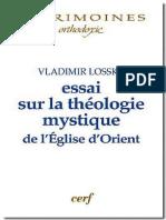 Vladimir Lossky, Saulius Rumsas-Essai sur la théologie mystique de l'Eglise d'Orient-Cerf (2005).pdf