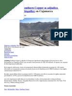 20180302 Peru Southern Copper Se Adjudica Proyecto Cu Michiquillay en Cajamarca